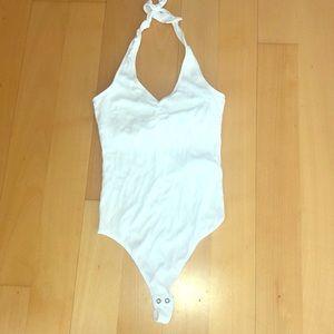 Hollister white bodysuit